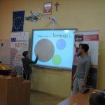 Studenci podczas prezentacji