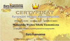 Europejski Rejestr Renomowany certyfikat dla MWSE