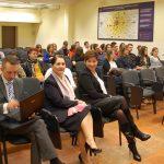 Władze uczelni i uczestnicy dni otwartych w sali wykładowej