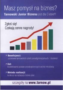 Tarnowski Junior Biznesu plakat