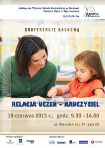 Plakat konferencja uczeń - nauczyciel