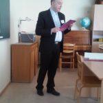 Ks. prof. J. Siewiora podczas wykładu