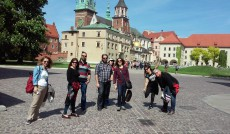 Goście Erasmusa podczas wycieczki do Krakowa
