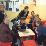 Pracownicy MWSE, Goście z Portugalii i gospodarze w oczekiwaniu na wspólny lunch - korytarz uczelni w Pradze
