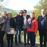 Pracownicy MWSE, Goście z Portugalii i gospodarze podczas zwiedzania Vysehradu