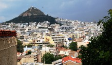 Widok na centrum Aten