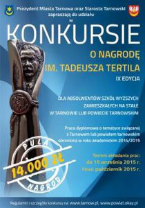 plakat nagroda Tertila 2015