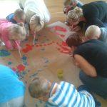 Zabawy z rodzicami w Przedszkolu w Radlnej