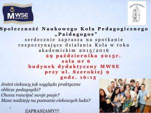 Plakat paidagogos