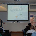Student Erasmus podczas prelekcji
