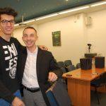 Koordynator programu Erasmus i jeden ze studentów