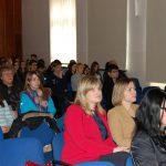 Słuchacze w trakcie wykładu. W drugim rzędzie od lewej Dziekan MWSE dr Renata Smoleń oraz Prodziekan WZiT mgr Bożena Niekurzak