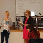 Prowadząca mgr Karolina Chrabąszcz-Sarad i opiekun grupy uczniów
