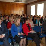 Uczestnicy konferencji w auli przy ul. Waryńskiego, w pierwszym rzędzie od lewej mgr Paweł Bełzowski, dr Renata Smoleń, mgra Renata Smoleń