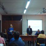 Wykłady pracowników MWSE - ujęcie z tyłu sali