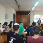 Studenci podczas wykładów pracowników MWSE - widok z tyłu sali