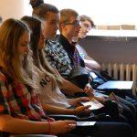 Młodzież podczas wykładu
