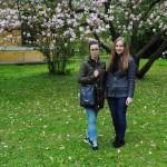 Członkinie RUSS MWSE w ogrodzie obok Zamku