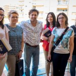 Pracownicy dziekanatu i biblioteki z dyrektorem Animafest