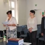 Komisja egzaminacyjna od lewej dr Sabina Kurzawa, dr hab. Anna Wawrzonkiewicz-Słomska, dr Michał Korbelak