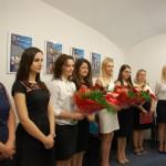 Studentki st. magisterskich podczas ogłoszenia wyników