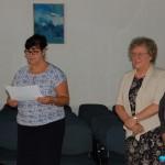 Ogłoszenie wyników - komisja od lewej: dr Sabina Kurzawa, dr Maria Dąbrowa, prof. Michał Woźniak