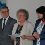 Ogłoszenie wyników przez Przewodniczącą Komisji Egaminacyjnej dr M. Dąbrowę