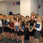 Grupa studentów z promotorem dr S. Kurzawą