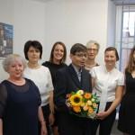 Grupa studentów z promotorem dr M. Koziołem