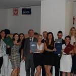 Grupa studentów z promotorem dr K. Barwaczem