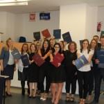 Grupa studentów z promotorem dr Renatą Smoleń