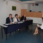 Egzamin dyplomowy, w komisji siedzą od lewej: dr Kazimierz Barwacz, dr Sabina Kurzawa, dr Janusz Ząbek