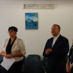 Członkowie komisji podczas ogłoszenia wyników, od lewej stoją: dr Sabina Kurzawa, ks. prof. Jacek Siewiora, dr Renata Smoleń