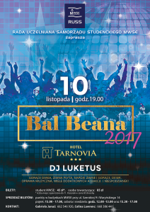 Bal Beana 2017 - plakat