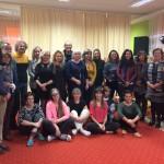 Uczestnicy spotkania w przedszkolu - zdjęcie grupowe
