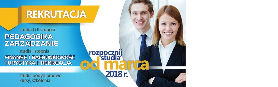 Rekrutacja na studia I i II stopnia – do 15 marca 2018 r.