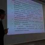 Dr inż kazimierz Barwacz podczas prezentacji