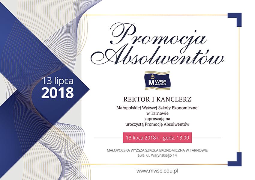 Promocja absolwentów 2018 - plakat