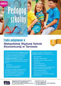 Pedagog szkolny - plakat