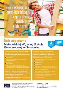 Terapia pedagogiczna - studia podyplomowe - plakat