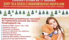 Zbiórka dla hospicjum - plakat 2018