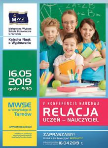 Relacja uczeń - nauczyciel plakat 2019