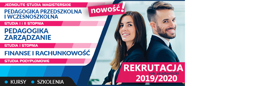 Rekrutacja na studia do 30.09.2019 – zarejestruj się online