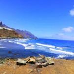 Morze i fragment linii brzegowej - Teneryfa