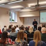 Wykład otwarty na temat bankowości - prowadzący i uczestnicy