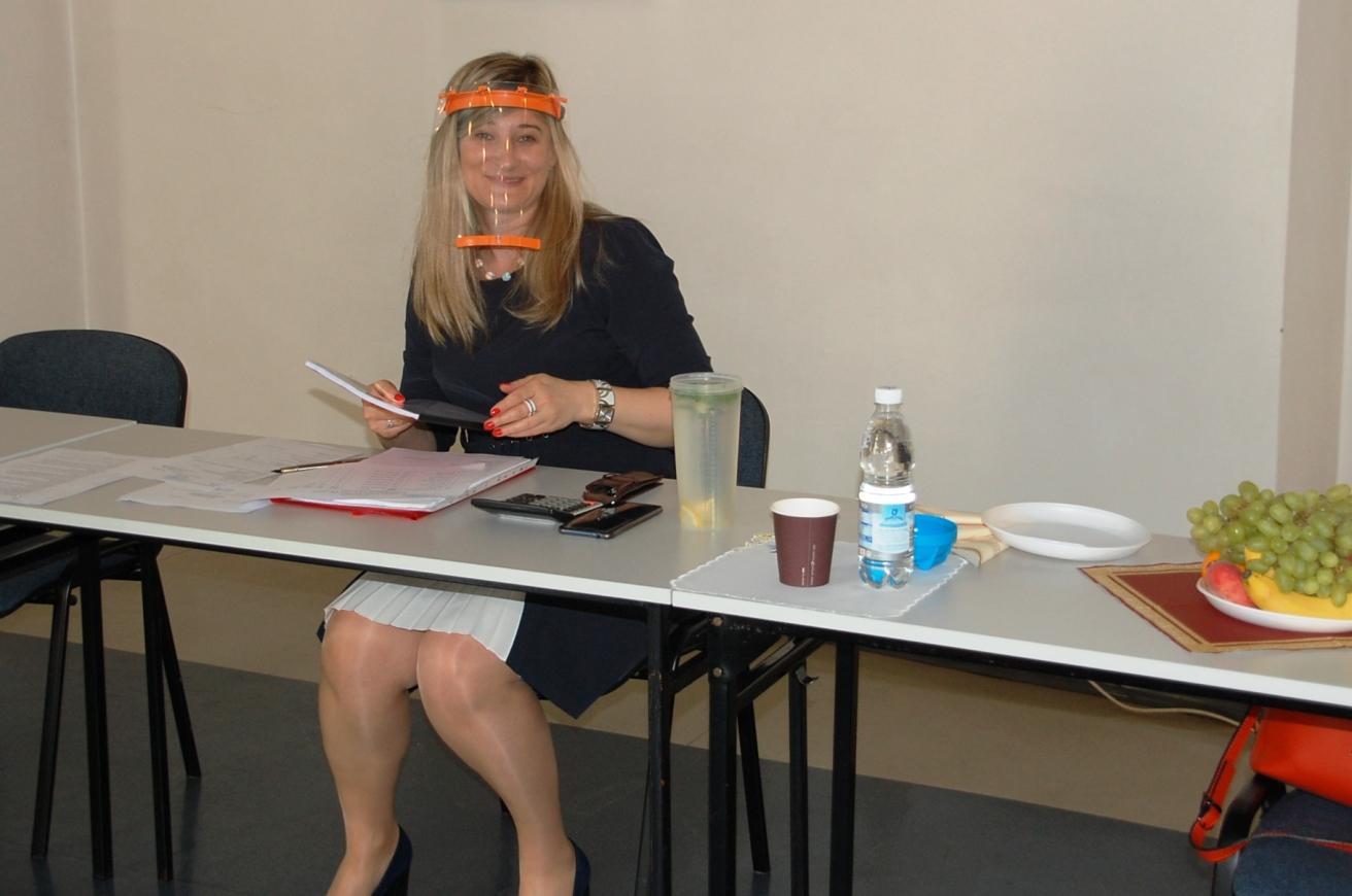 Dr Renata Smoleń podczas egzaminów dyplomowych